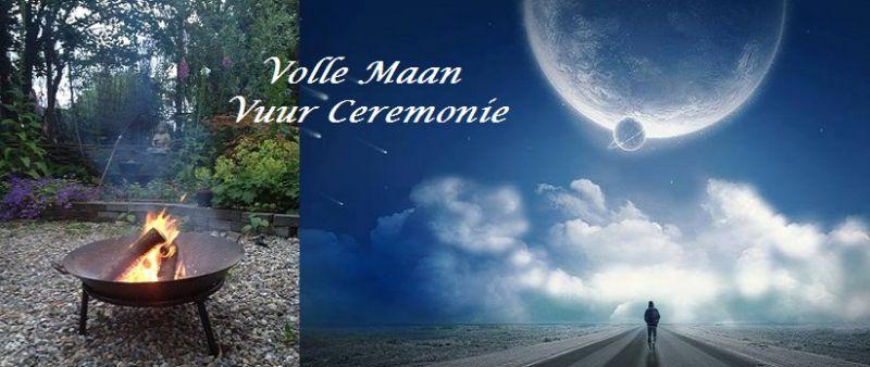 volle maan vuur ceremonie